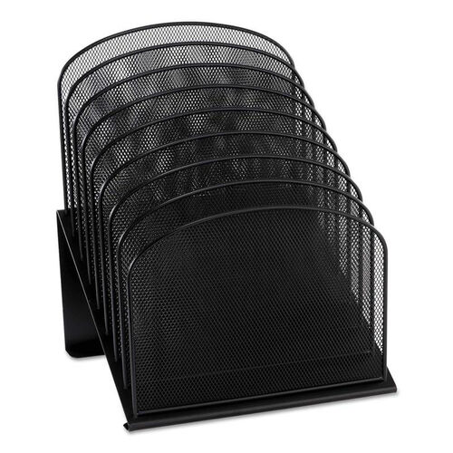 Our Safco® Mesh Desk Organizer - Eight Sections - Steel - 11 1/4 x 10 7/8 x 13 3/4 - Black is on sale now.