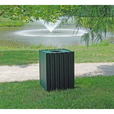 Heavy Duty Recycled Plastic 55 Gallon Square Receptacle