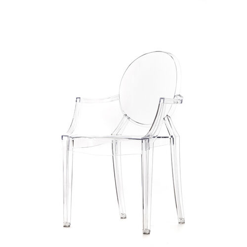 Polycarbonate Stackable Kage Chair with Arms - Set of 4