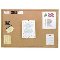 Wood Framed Natural Self-Healing Cork Bulletin Board - 18