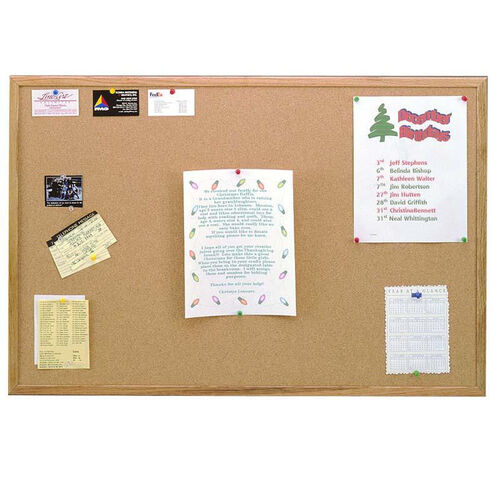 Our Wood Framed Natural Self-Healing Cork Bulletin Board - 18