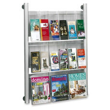 Safco Magazine Rack - Wall Mount - 9 Pocket - 31 3/4