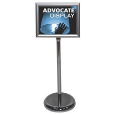 Advocate Rotating Aluminum Sign Holder with Chrome Finish