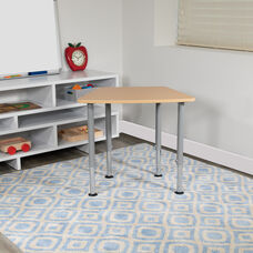 """Hex Natural Collaborative Student Desk (Adjustable from 22.3"""" to 34"""") - Home and Classroom"""