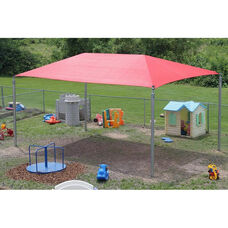 Stand-Alone Shade Structure with Lock Stitched High Density Polyethylene Canopy and Galvanized Steel Legs - 240