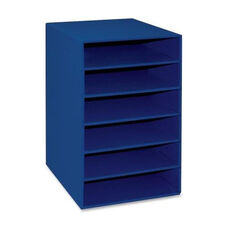 Pacon 6 -Shelf Organizer - 13 -1/2'' x 12'' x 17 -3/4'' - Blue