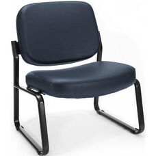 Big & Tall Guest and Reception Vinyl Chair - Navy