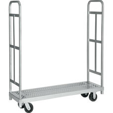 Narrow Tall End Steel Frame Truck with 2 Swivel Casters - 16
