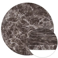 """30"""" Round Gray Marble Laminate Table Top"""