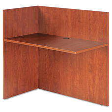 Alera® Valencia Reversible Reception Return - 44w x 23 5/8d x 41 1/2h - Medium Cherry