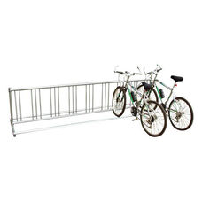 Theft Deterring Surface Mounted Galvanized Steel Double Entry Bike Rack - 32