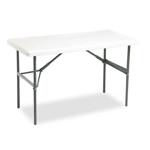 Our Iceberg IndestrucTables Too 1200 Series Resin Folding Table - 48w x 24d x 29h - Platinum is on sale now.