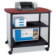Safco® Impromptu Deluxe Machine Stand - 34-3/4w x 25-1/2d x 31h - Black/Cherry