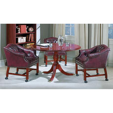 Bedford Traditional Round Conference Table with 4-Footed Pedestal
