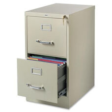 Lorell Vertical File - 22''D - Commercial - 2 -Drawer - 15''W x 22''L x 28''H - Putty