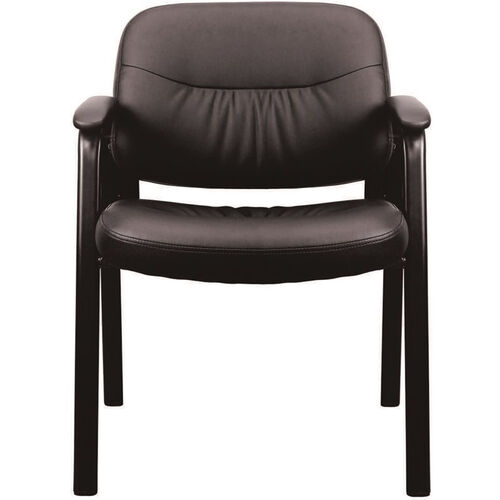 Our Essentials Leather Executive Side Chair with Padded Arms - Black is on sale now.