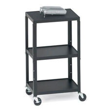 Three-Shelf Adjustable AV Cart - 24