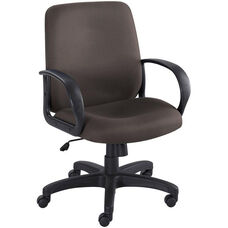 Poise® 27'' Dia x 37'' H Adjustable Height Executive Mid Back Seating - Black
