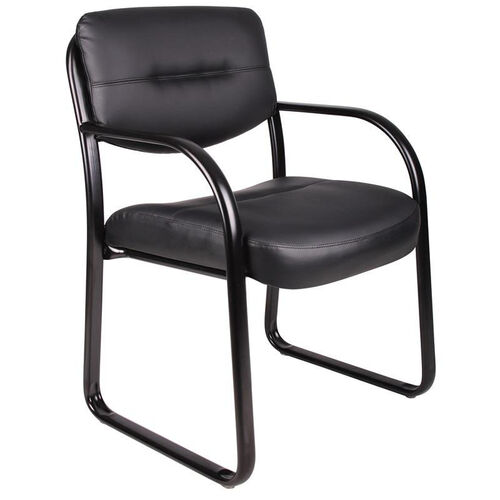 Our LeatherPlus Sled Base Side Chair with Arms - Black is on sale now.