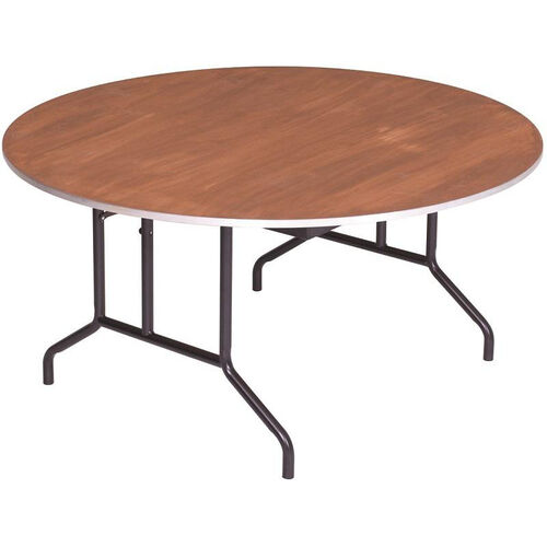 Our Round Sealed and Stained Plywood Top Table with Aluminum T - Molding Edge - 36