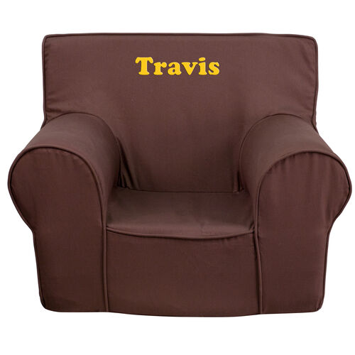 Our Personalized Small Solid Brown Kids Chair is on sale now.