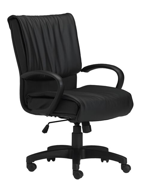 Our Mercado Adjustable Height Leather Arm Chair with Loop Arms - Black is on sale now.