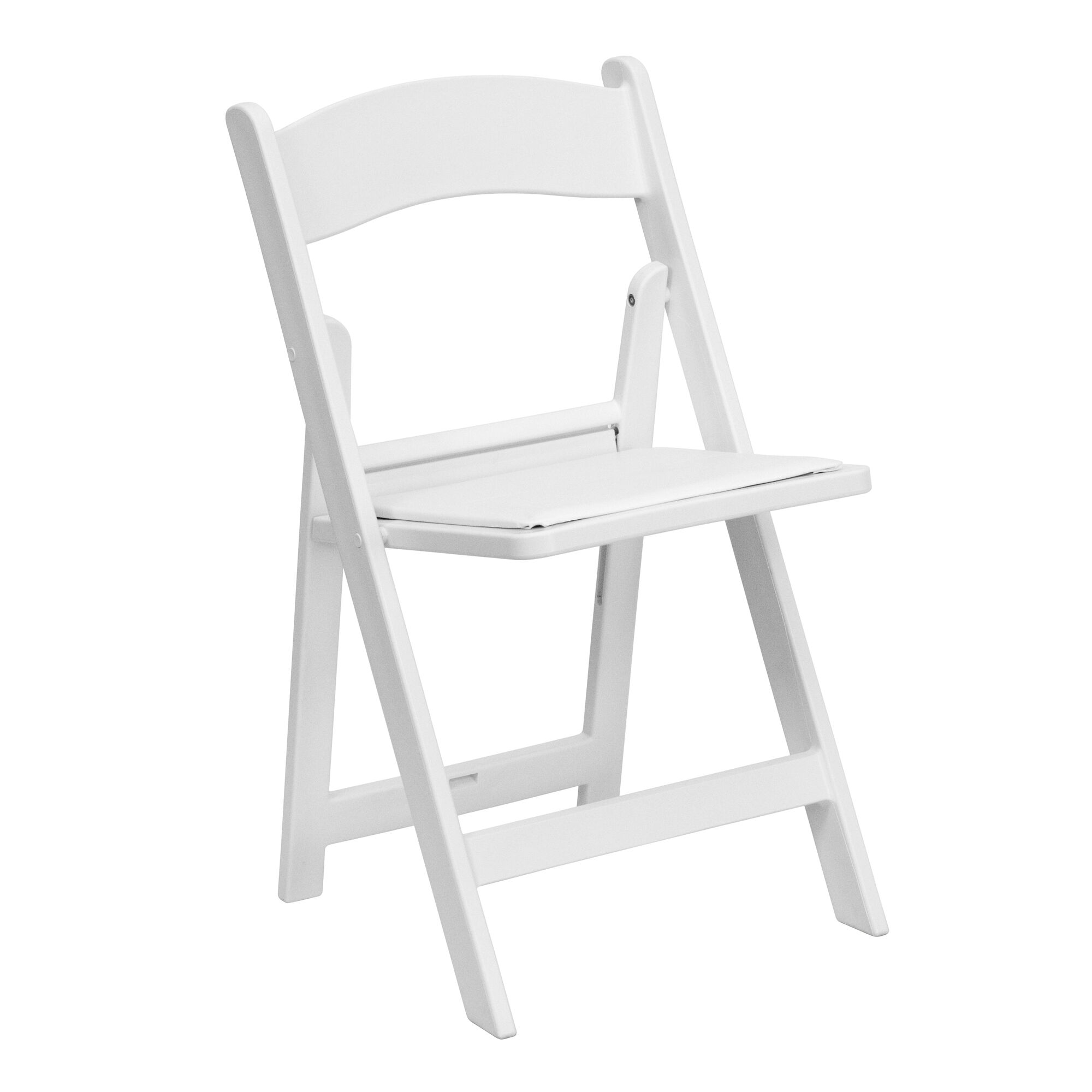 Cool Hercules Series 1000 Lb Capacity White Resin Folding Chair With White Vinyl Padded Seat Theyellowbook Wood Chair Design Ideas Theyellowbookinfo