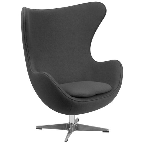 Our Gray Wool Fabric Egg Chair with Tilt-Lock Mechanism is on sale now.