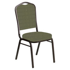 Crown Back Banquet Chair in Georgetown Alpine Fabric - Gold Vein Frame