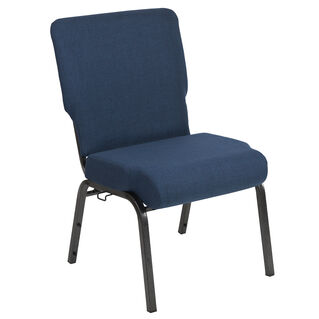 Advantage 20.5 in. Navy Molded Foam Church Chair