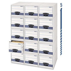 Bankers Box® STOR/DRAWER Steel Plus Storage Box - Letter - White/Blue - 6/Carton