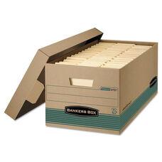 Bankers Box® STOR/FILE Storage Box - Legal - Locking Lift-off Lid - Kraft/Green - 12/Carton