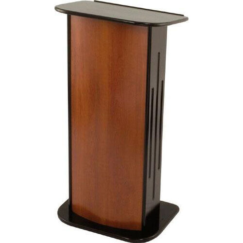 Our 346 Series Classic Wooden Lectern - Black Hardwood and Cherry Laminate - 24