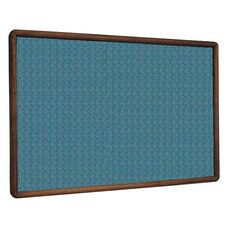 2600 Series Tackboard with Bullnose Wood Face Frame - Designer Fabric - 48
