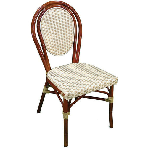 Parisienne Durable Aluminum Indoor/ Outdoor Stackable Side Chair