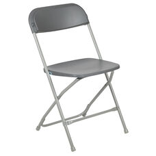 HERCULES Series 650 lb. Capacity Premium Grey Plastic Folding Chair