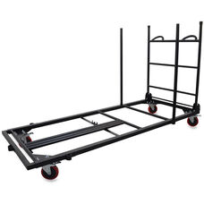 Lorell Rectangular Folding Table Trolley Cart 30