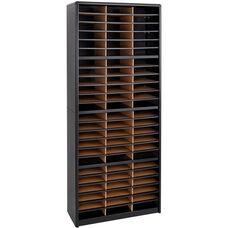 Value Sorter® Seventy-Two Compartment Literature Sorter and Organizer - Black