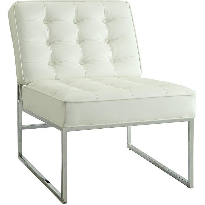 ... Our Work Smart Anthony Faux Leather Chair With Chrome Base   White Is  On Sale Now