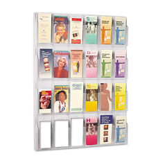 Safco® Reveal Clear Literature Displays - 24 Compartments - 30w x 2d x 41h - Clear