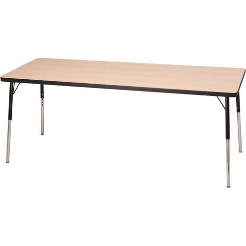 Laminate Top Adjustable Height Rectangle Activity Table with Particleboard Core - 24