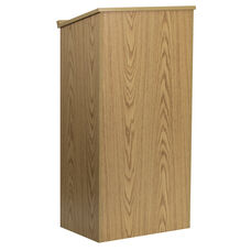 Stand-Up Wood Lectern in Oak
