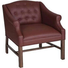 5025 Lounge Chair: Chippendale Legs, Upholstered Spring Button Back & Seat - Grade 1