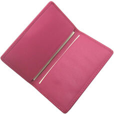 Slim Business Card Case - Top Grain Nappa Leather - Wildberry