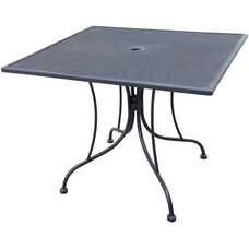 Outdoor Wrought Iron Table with 36