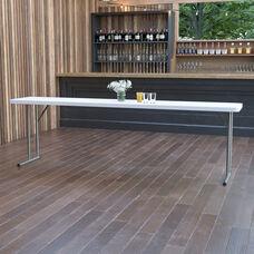 8-Foot Granite White Plastic Folding Training Table