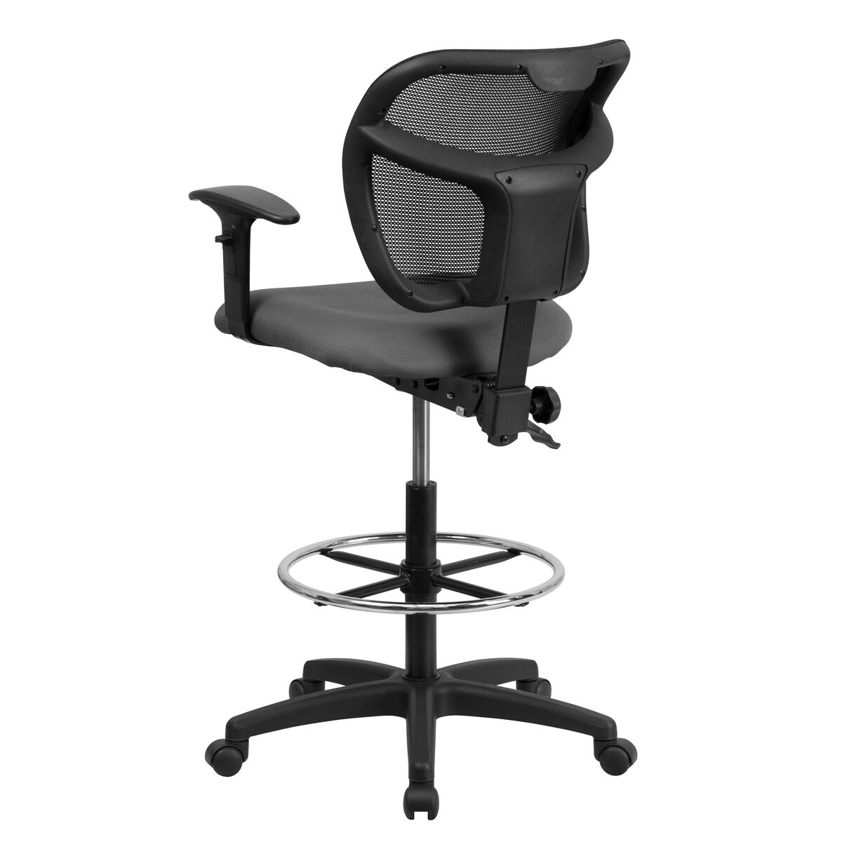 gray mesh draft chair w arms wl a7671syg gy ad gg