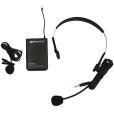Wireless 16 Channel UHF Lapel and Headset Mic Replacement Kit - Black - 7