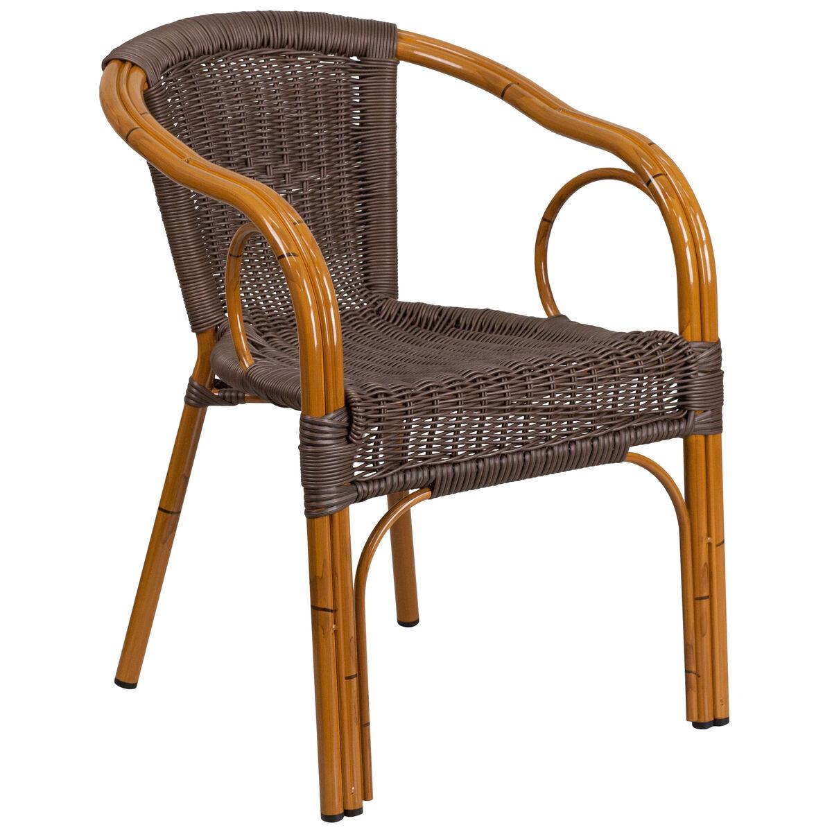 Rattan Bamboo Aluminum Chair Sda Ad632009d 2 Gg Churchchairs4less Com