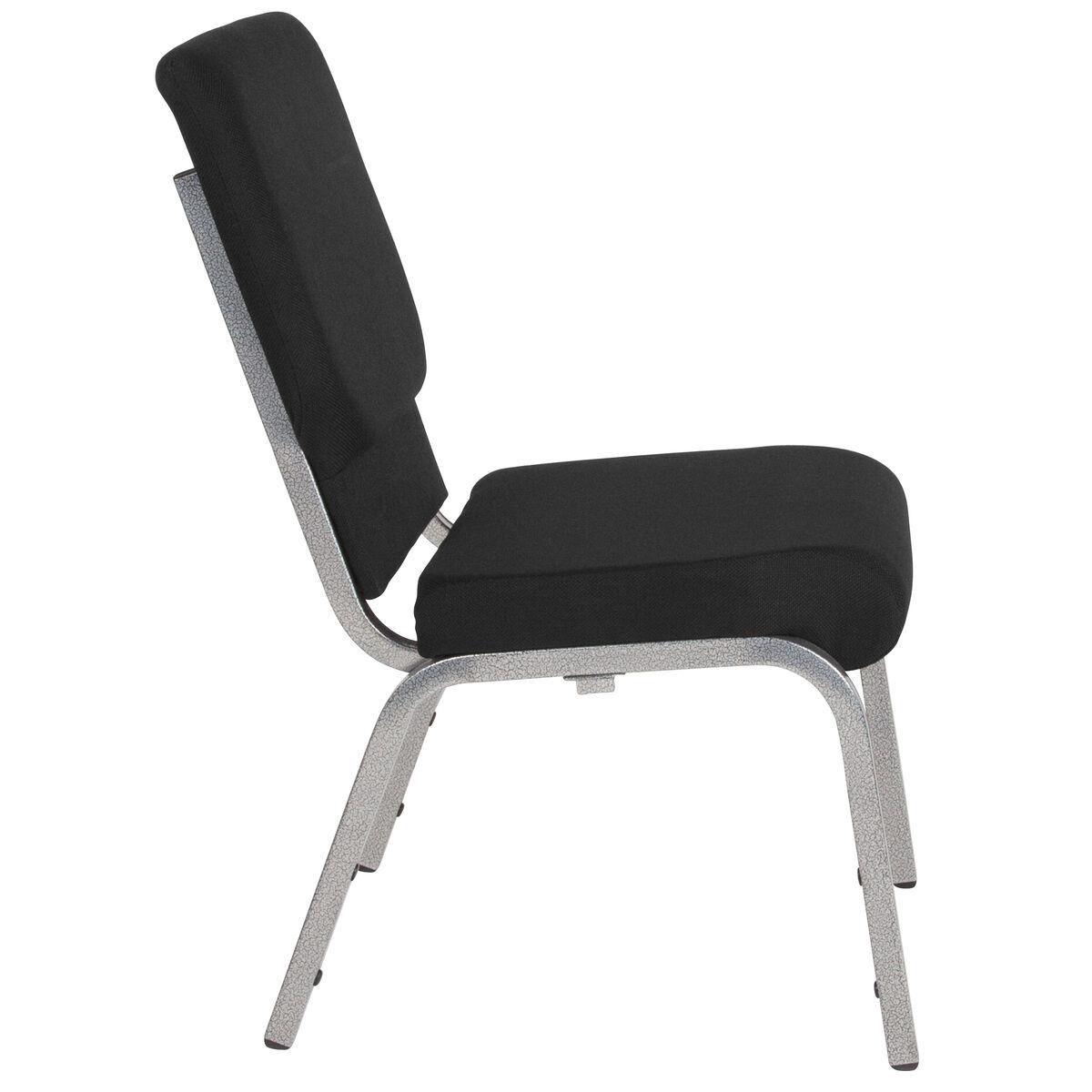 Black Fabric Church Chair Xu Ch 60096 Bk Sv Gg